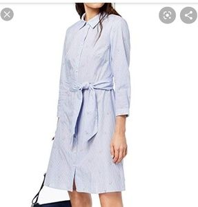 Tommy Hilfiger Cotton Embroidered Shirt Dress